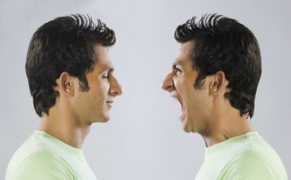 photo of man yelling