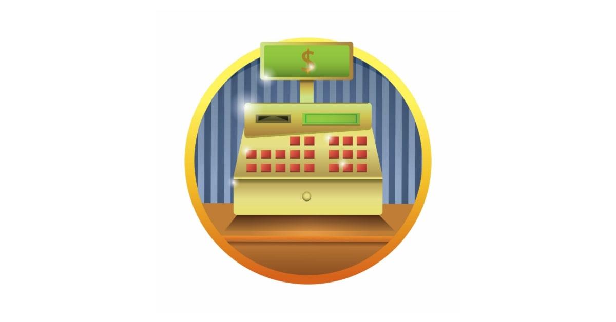 illustration of cash register