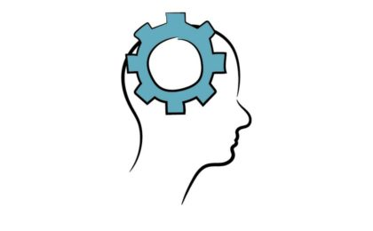 Illustration of gears in a person's mind