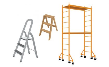 different sized ladders representing vocal pitch and range